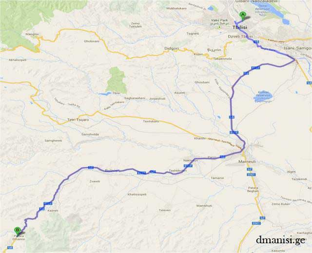 Dmanisi Georgia Map.How To Get There